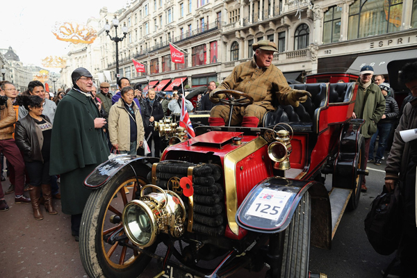 Cars Are Displayed Ahead Of The London To Brighton Veteran Car Run