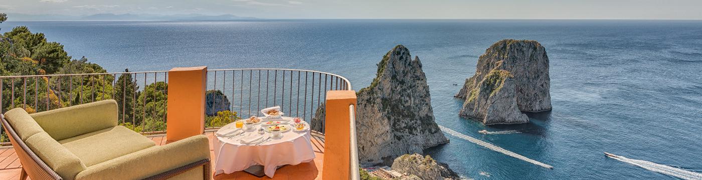 Фотография отеля Punta Tragara морской пейзаж с террасы - Италия, Капри