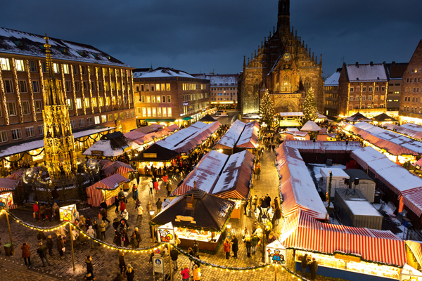 Christkindlesmarkt, weihnachtliches Nürnberg