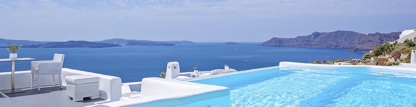 Фотография отеля Canaves Oia Hotel бассейн баннер - Греция, Санторини
