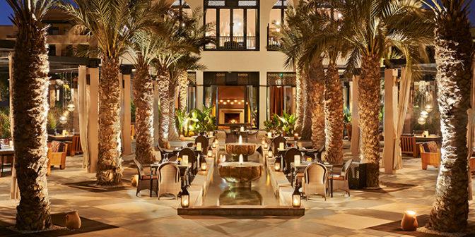 Фотография отеля Four Seasons Resort Marrakech вечер в отеле - Марокко, Марракеш