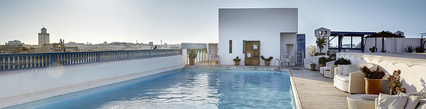 Фотография отеля Heure Bleue Palais бассейн на крыше - Марокко, Эс-Сувейра