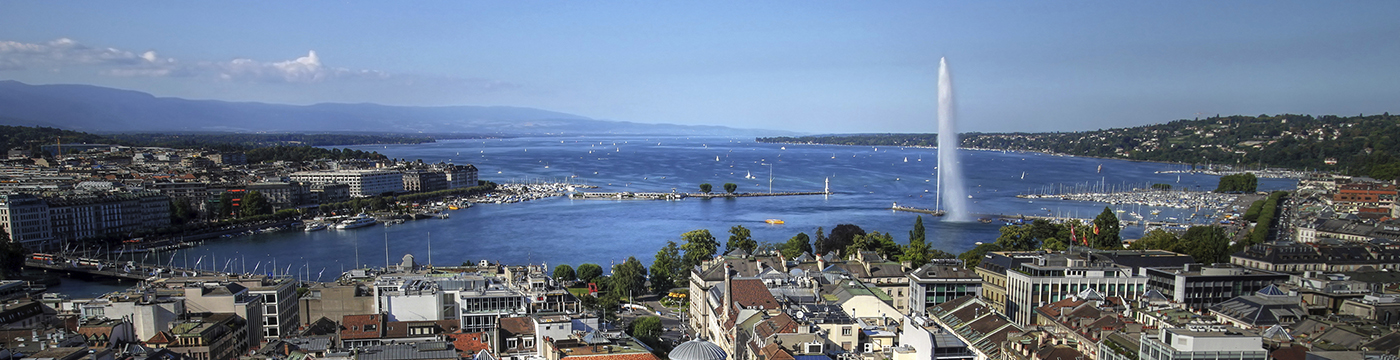Geneva aerial, Switzerland